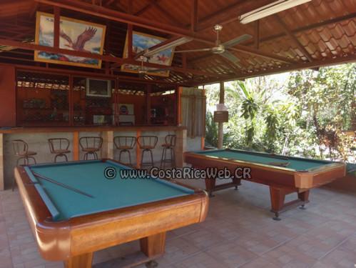 Bar y Billar del Hotel El Oasis de Papagayo en Guanacaste, Costa Rica