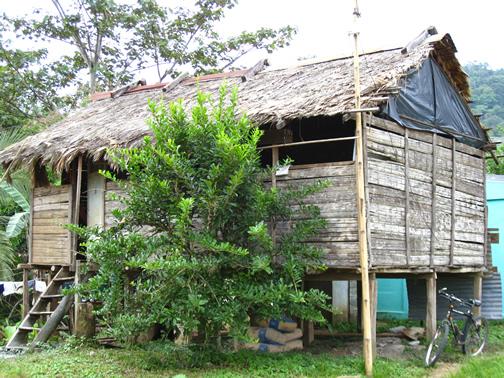 Choza Indígena de Bribrí en Talamanca, Costa Rica