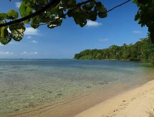 Playa del Parque Nacional Cahuita en Costa Rica