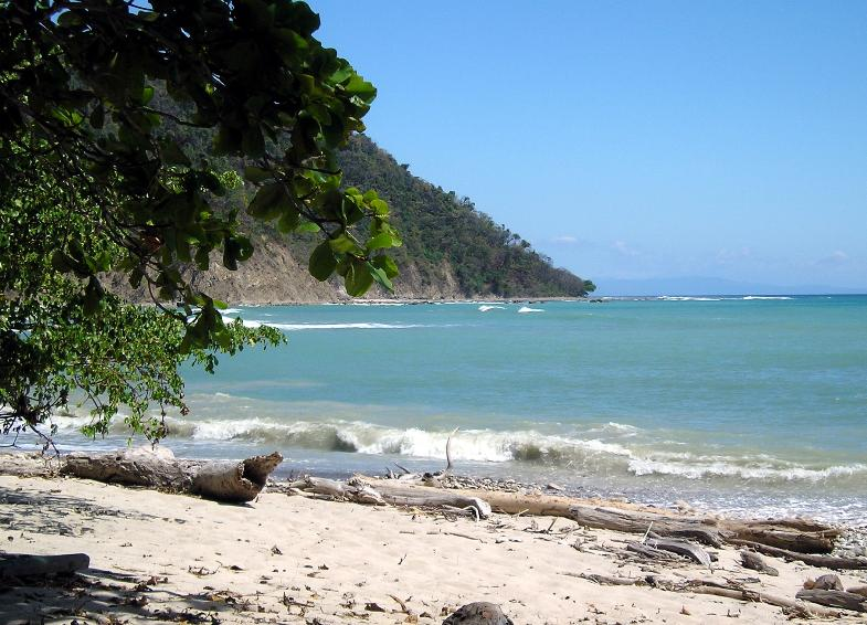 Playa de la Reserva Natural Absoluta Cabo Blanco en Costa Rica