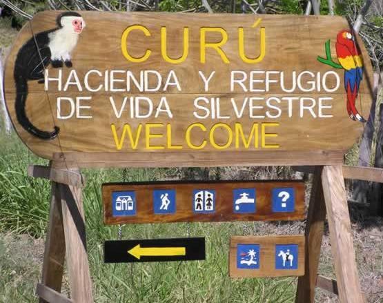 Entrada al Refugio Nacional de Vida Silvestre Curú en Costa Rica