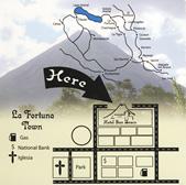 Mapa del Hotel San Bosco, La Fortuna, San Carlos, Alajuela, Costa Rica