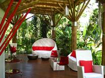 Recepción del Hotel Le Caméléon Costa Rica