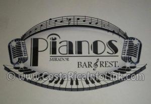 Mirador Pianos Bar y Restaurante en Birri, Santa Barbara, Heredia, Costa Rica